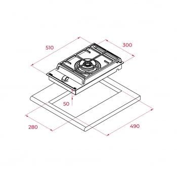 Placa de Gas Teka GZC 31330 XBN (112570002) | Modular | 30 cm | 1 Zona de Gas Natural | Función ExactFlame | Stock - 12