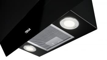 """Campana decorativa vertical Teka DVT 68660 TBS (112930039) en Cristal Negro, de 60cm a 698 m³/h   Sistema aspiración Dual y Perimetral """"Contour""""    Clase A+ - 9"""