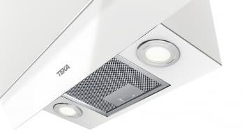"""Campana decorativa vertical Teka DVT 68660 TBS (112930040) en Cristal Blanco, de 60cm a 698 m³/h   Función FreshAir   Sistema aspiración """"Contour""""    Clase A+ - 13"""