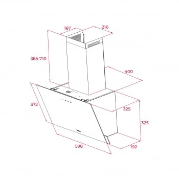 Campana decorativa vertical Teka DVN 64030 TTC (112950005) en Cristal Blanco, de 60 cm a 425 m³/h | Sistema aspiración Perimetral - 8