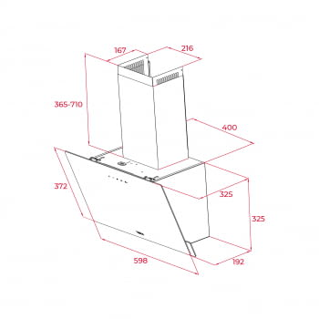 Campana decorativa vertical Teka DVN 64030 TTC (112950005) en Cristal Blanco, de 60 cm a 425 m³/h | Sistema aspiración Perimetral - 9