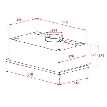 Campana Integrable Teka GFG 2 (40446751) en Cristal Blanco, de 55 cm a 329 m³/h | Clase A - 2