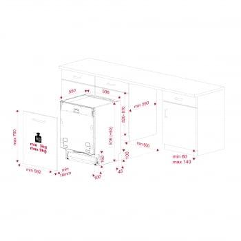 Lavavajillas Integrable Teka DFI 76950 60cm | Ref 114260004 | 15 cubiertos | 9 programas | Tercera Bandeja Cubiertos | Apertura Automática | Clase E - 17
