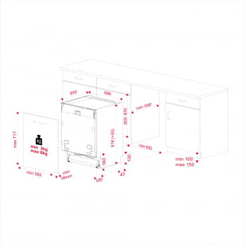 Lavavajillas Integrable Teka DFI 46700 60cm | Ref 114270009 | 14 cubiertos | 7 programas | 5 temperaturas | Inverter | Clase E - 13