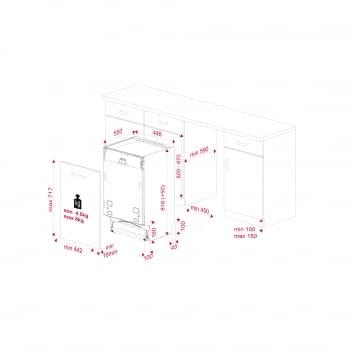 Lavavajillas Teka DFI 74950 (114300000) Integrable de 45 cm para 11 cubiertos con 9 programas a 6 temperaturas | Secado mediante apertura PremiumDry | 3ª Bandeja cubiertos | Motor Inverter Clase A+++ | STOCK - 13