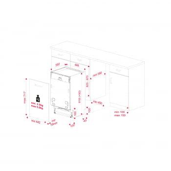 Lavavajillas Integrable 45cm Teka DFI 44700  | Ref 114310000 | 10 cubiertos | 7 programas | Inverter | Clase E - 11