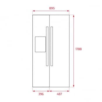 Frigorífico Side by Side Teka RLF 74920 (113430011) Inoxidable de 178.8 x 89.5 cm No Frost | Dispensador agua y hielo | Clase E - 11