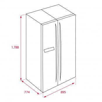 Frigorífico Side by Side Teka RLF 74910 (113430012) Inoxidable de 178.8 x 89.5 cm No Frost | Dispensador Interno de hielo | Clase F - 7