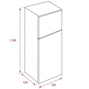 Frigorífico 2 Puertas Teka RTF 13610 (113380000)  Blanco, de 176 x 60 cm, 294 L   Clase A+ - 3