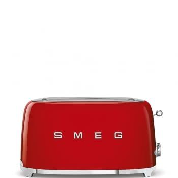 Tostadora Vintage XXL TSF02RDEU SMEG | Color Rojo | 3 funciones | 1500W | Estilo 50 Style