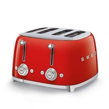 Tostadora Americana TSF03RDEU SMEG con 6 funciones de tostado | 2000 W | 3 Funciones | Color Rojo
