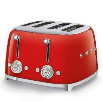 Tostadora Americana SMEG TSF03RDEU 6 Niveles de Tostado   2000W   3 Funciones   Color Rojo   Stock - 3