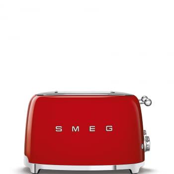 Tostadora Americana SMEG TSF03RDEU 6 Niveles de Tostado   2000W   3 Funciones   Color Rojo   Stock - 7