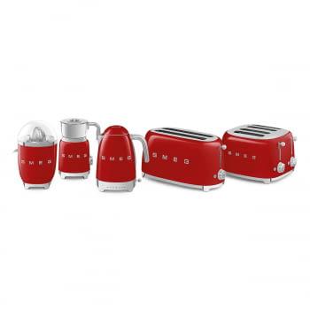 Tostadora Americana SMEG TSF03RDEU 6 Niveles de Tostado   2000W   3 Funciones   Color Rojo   Stock - 8