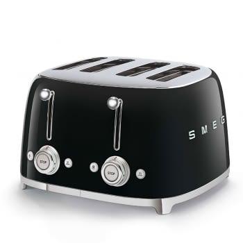 Tostadora Americana TSF03BLEU SMEG con 6 funciones de tostado | 2000 W | 3 Funciones | Color Negro