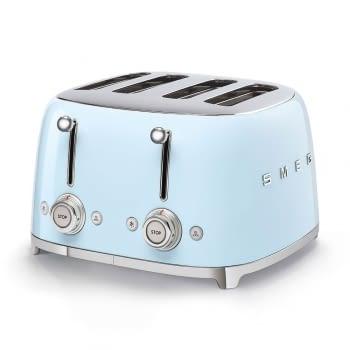 Tostadora Americana TSF03PBEU SMEG con 6 funciones de tostado | 2000 W | 3 Funciones | Color Azul pastel | stock - 1
