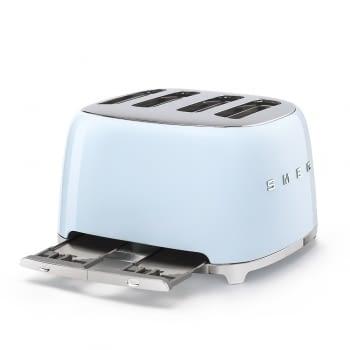 Tostadora Americana TSF03PBEU SMEG con 6 funciones de tostado | 2000 W | 3 Funciones | Color Azul pastel | stock - 2