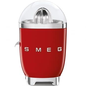 Exprimidor Smeg CJF01RDEU en color Rojo de 70 W | Sistema de presión manual