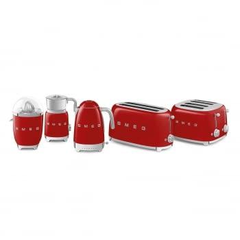 Exprimidor Smeg CJF01RDEU en color Rojo de 70 W   Sistema de presión manual - 4