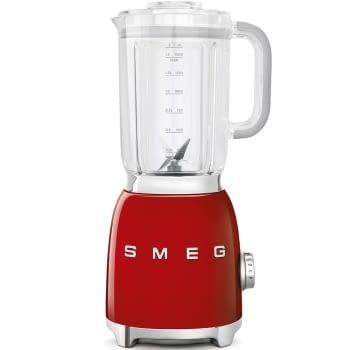 Batidora de vaso BLF01RDEU SMEG con 4 niveles de velocidad | Cuchilla doble extraible | 3 funciones | 800W | Capacidad 1,5L | Color Rojo | Stock