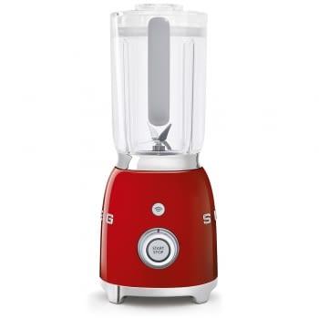 Batidora de vaso BLF01RDEU SMEG con 4 niveles de velocidad | Cuchilla doble extraible | 3 funciones | 800W | Capacidad 1,5L | Color Rojo - 2