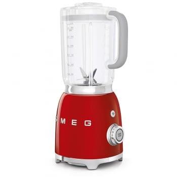 Batidora de vaso BLF01RDEU SMEG con 4 niveles de velocidad | Cuchilla doble extraible | 3 funciones | 800W | Capacidad 1,5L | Color Rojo - 3