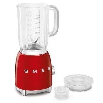 Batidora de vaso BLF01RDEU SMEG con 4 niveles de velocidad | Cuchilla doble extraible | 3 funciones | 800W | Capacidad 1,5L | Color Rojo - 4