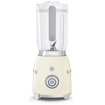 Batidora de vaso BLF01CREU SMEG con 4 niveles de velocidad | Cuchilla doble extraible | 3 funciones | 800W | Capacidad 1,5L | Color Crema - 2