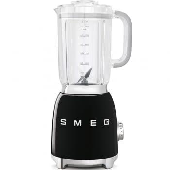 Batidora de vaso BLF01BLEU SMEG con 4 niveles de velocidad | Cuchilla doble extraible | 3 funciones | 800W | Capacidad 1,5L | Color Negra