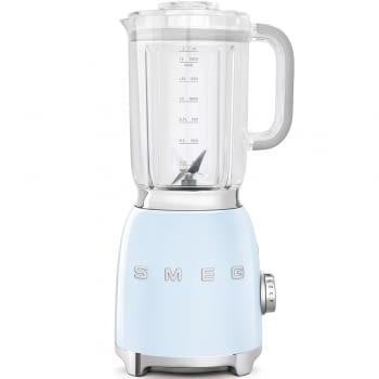 Batidora de vaso BLF01PBEU SMEG con 4 niveles de velocidad | Cuchilla doble extraible | 3 funciones | 800W | Capacidad 1,5L | Color Azul pastel - 1