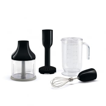 Set accesorios batidora de mano HBAC01BL SMEG en color Negro | Compatible con: HBF01 / HBF02