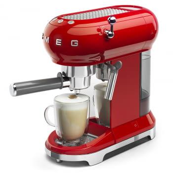 Cafetera Expresso ECF01RDEU SMEG con Sistema de calentamiento Thermoblock | 3 filtros y portafiltros | Deposito 1L | Potencia 1350W | Color Rojo - 1