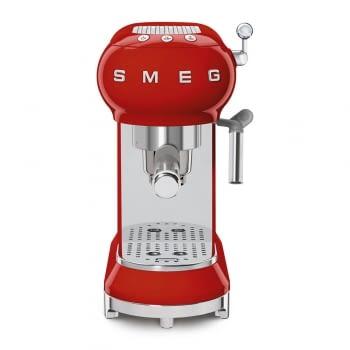 Cafetera Expresso ECF01RDEU SMEG con Sistema de calentamiento Thermoblock | 3 filtros y portafiltros | Deposito 1L | Potencia 1350W | Color Rojo - 3
