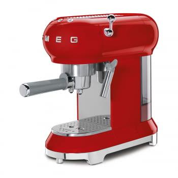 Cafetera Expresso ECF01RDEU SMEG con Sistema de calentamiento Thermoblock | 3 filtros y portafiltros | Deposito 1L | Potencia 1350W | Color Rojo - 4