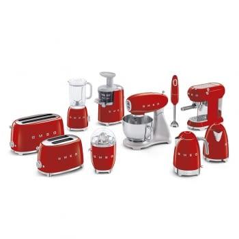 Cafetera Expresso ECF01RDEU SMEG con Sistema de calentamiento Thermoblock | 3 filtros y portafiltros | Deposito 1L | Potencia 1350W | Color Rojo - 6