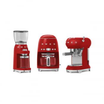 Cafetera Expresso ECF01RDEU SMEG con Sistema de calentamiento Thermoblock | 3 filtros y portafiltros | Deposito 1L | Potencia 1350W | Color Rojo - 7
