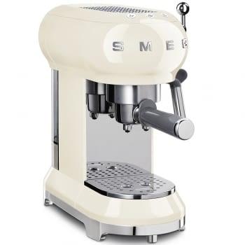 Cafetera Expresso ECF01CREU SMEG con Sistema de calentamiento Thermoblock | 3 filtros y portafiltros | Deposito 1L | Potencia 1350W | Color Crema - 1