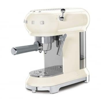 Cafetera Expresso ECF01CREU SMEG con Sistema de calentamiento Thermoblock | 3 filtros y portafiltros | Deposito 1L | Potencia 1350W | Color Crema - 2