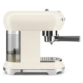 Cafetera Expresso ECF01CREU SMEG con Sistema de calentamiento Thermoblock | 3 filtros y portafiltros | Deposito 1L | Potencia 1350W | Color Crema - 4