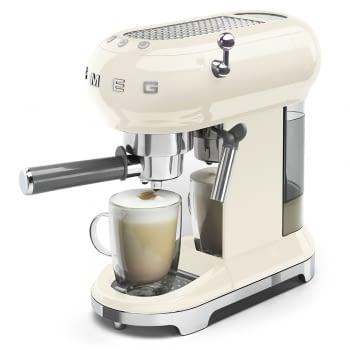 Cafetera Expresso ECF01CREU SMEG con Sistema de calentamiento Thermoblock | 3 filtros y portafiltros | Deposito 1L | Potencia 1350W | Color Crema - 6