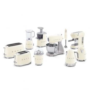 Cafetera Expresso ECF01CREU SMEG con Sistema de calentamiento Thermoblock | 3 filtros y portafiltros | Deposito 1L | Potencia 1350W | Color Crema - 8