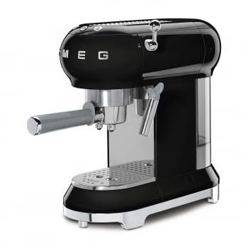 Cafetera Expresso ECF01BLEU SMEG con Sistema de calentamiento Thermoblock | 3 filtros y portafiltros | Deposito 1L | Potencia 1350W | Color Negro - 2
