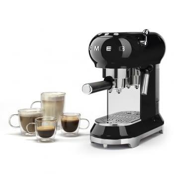 Cafetera Expresso ECF01BLEU SMEG con Sistema de calentamiento Thermoblock | 3 filtros y portafiltros | Deposito 1L | Potencia 1350W | Color Negro - 4