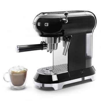 Cafetera Expresso ECF01BLEU SMEG con Sistema de calentamiento Thermoblock | 3 filtros y portafiltros | Deposito 1L | Potencia 1350W | Color Negro - 5