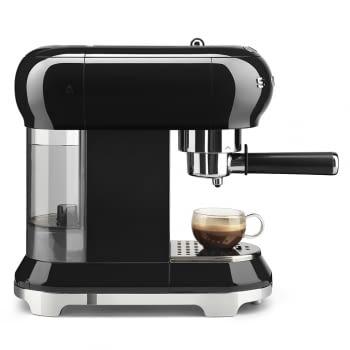 Cafetera Expresso ECF01BLEU SMEG con Sistema de calentamiento Thermoblock | 3 filtros y portafiltros | Deposito 1L | Potencia 1350W | Color Negro - 6