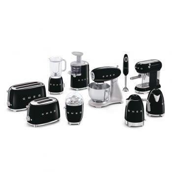 Cafetera Expresso ECF01BLEU SMEG con Sistema de calentamiento Thermoblock | 3 filtros y portafiltros | Deposito 1L | Potencia 1350W | Color Negro - 8