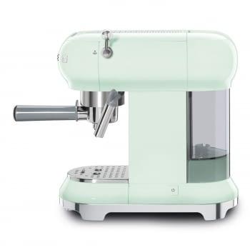 Cafetera Expresso ECF01PGEU SMEG con Sistema de calentamiento Thermoblock | 3 filtros y portafiltros | Deposito 1L | Potencia 1350 W | Color Verde Agua - 2