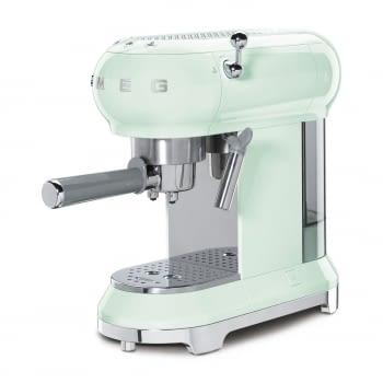 Cafetera Expresso ECF01PGEU SMEG con Sistema de calentamiento Thermoblock | 3 filtros y portafiltros | Deposito 1L | Potencia 1350 W | Color Verde Agua - 3