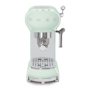 Cafetera Expresso ECF01PGEU SMEG con Sistema de calentamiento Thermoblock | 3 filtros y portafiltros | Deposito 1L | Potencia 1350 W | Color Verde Agua - 4