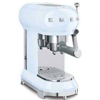 Cafetera Expresso ECF01PBEU SMEG con Sistema de calentamiento Thermoblock | 3 filtros y portafiltros | Deposito 1L | Potencia 1350W | Color Azul